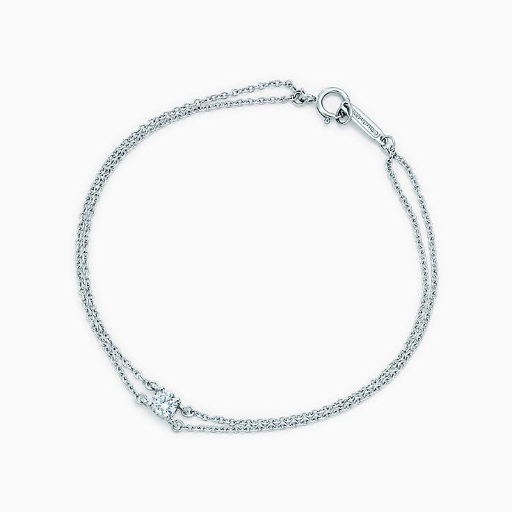 Pulseira de diamante solitário Tiffany