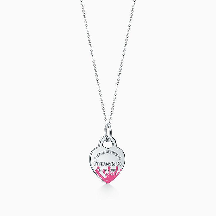 Return to Tiffany™:Подвеска-шарм в форме сердца с цветными брызгами