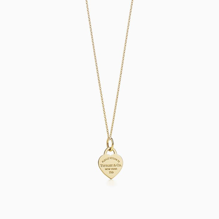 Return to Tiffany™: подвеска-жетон в форме сердца на цепочке