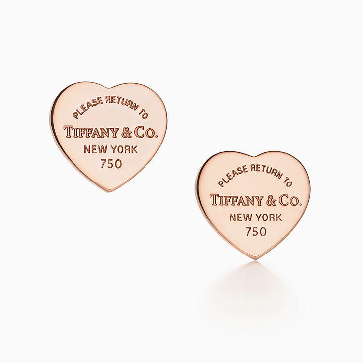 Return to Tiffany™: миниатюрные серьги в форме сердца