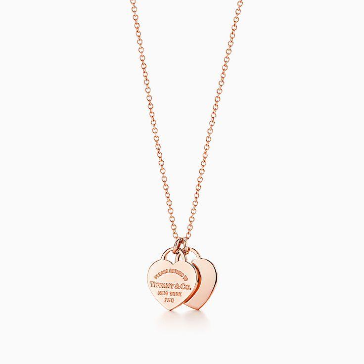 Return to Tiffany™: двойная подвеска в форме сердца