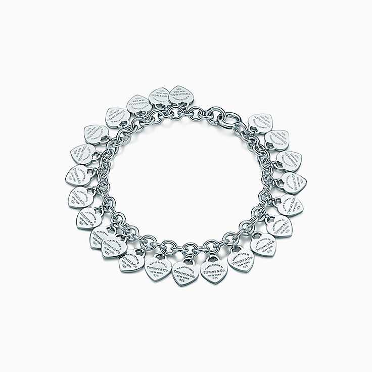 Return to Tiffany™: браслет с подвесками в форме сердца