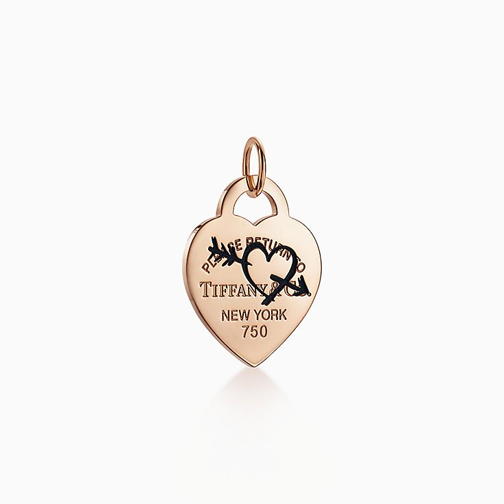 Return to Tiffany™:Подвеска-шарм с гравировкой в виде сердца и стрелы