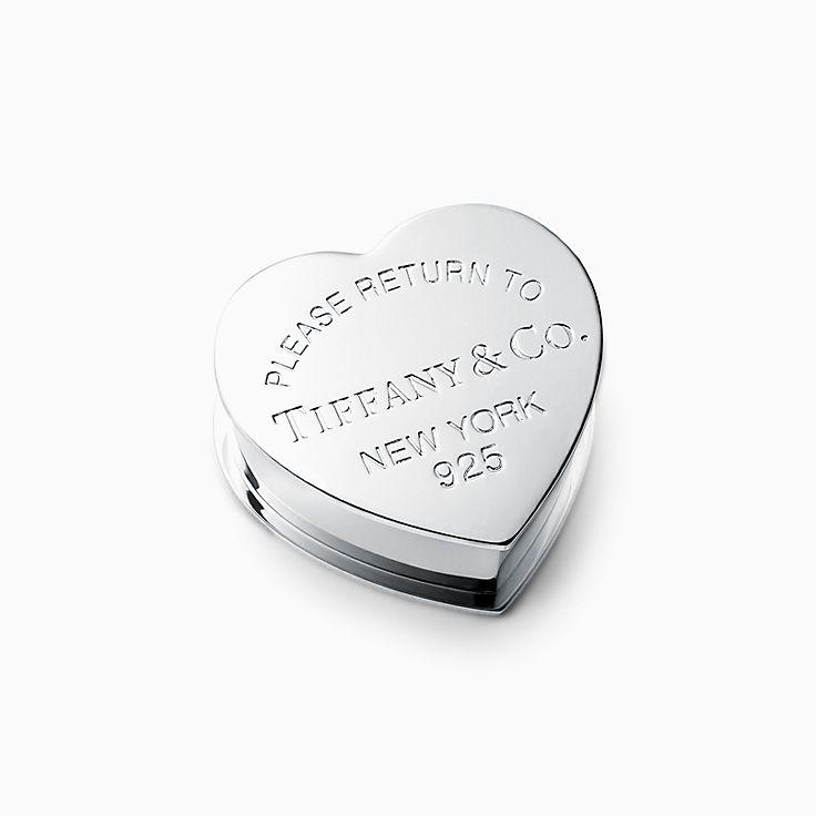 Return to Tiffany™:Мини-шкатулка в форме сердца