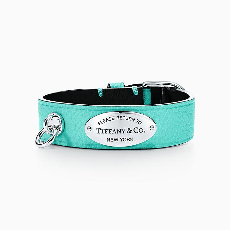 Return to Tiffany™:Широкий кожаный браслет