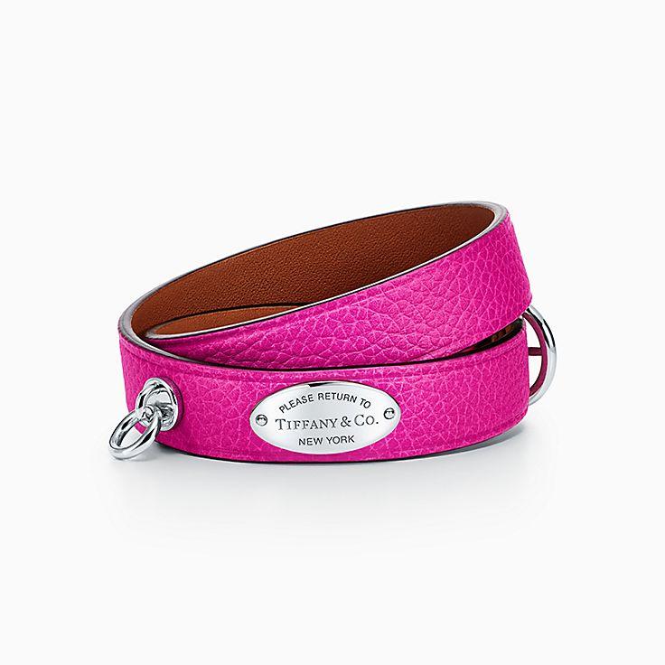 Return to Tiffany™:Узкий кожаный браслет в несколько оборотов