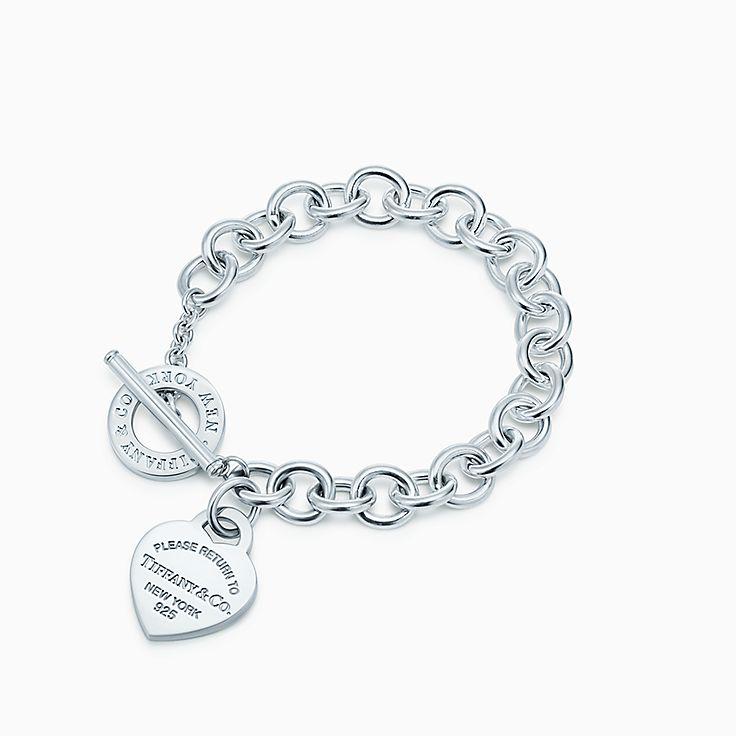Return to Tiffany™: Armband mit Herzanhänger und Knebelverschluss