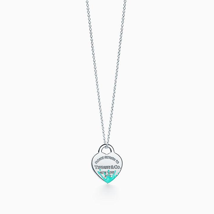 Return to Tiffany™: Charm plaque Cœur Color Splash