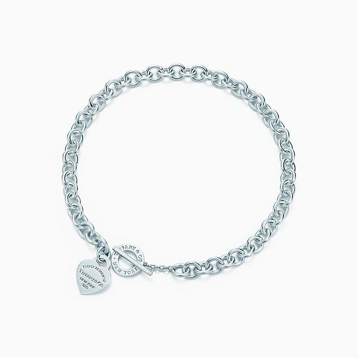 Return to Tiffany™: Collana Heart Tag con chiusura toggle