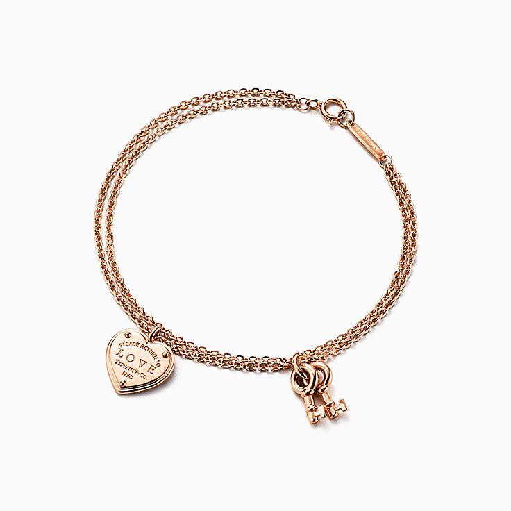 Return to Tiffany™: браслет Love с подвесками в форме ключа и сердца