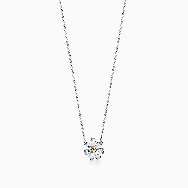 Return to Tiffany™ Love Bugs:Подвеска в виде маргаритки из стерлингового серебра и золота 18карат