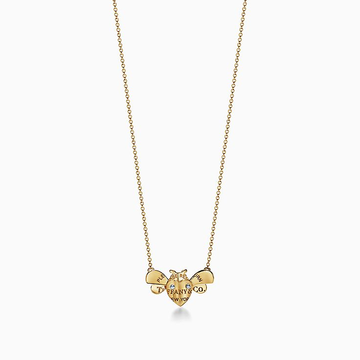 Return to Tiffany® Love Bugs:Bee Pendant in 18k Gold and Sterling Silver