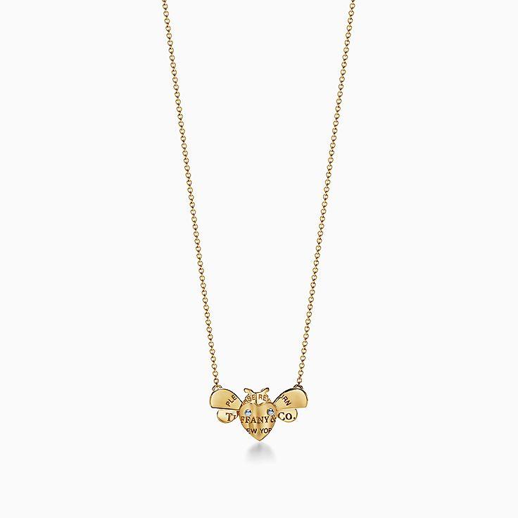 Return to Tiffany™ Love Bugs:Colgante de abeja en oro de 18 ct y plata de ley