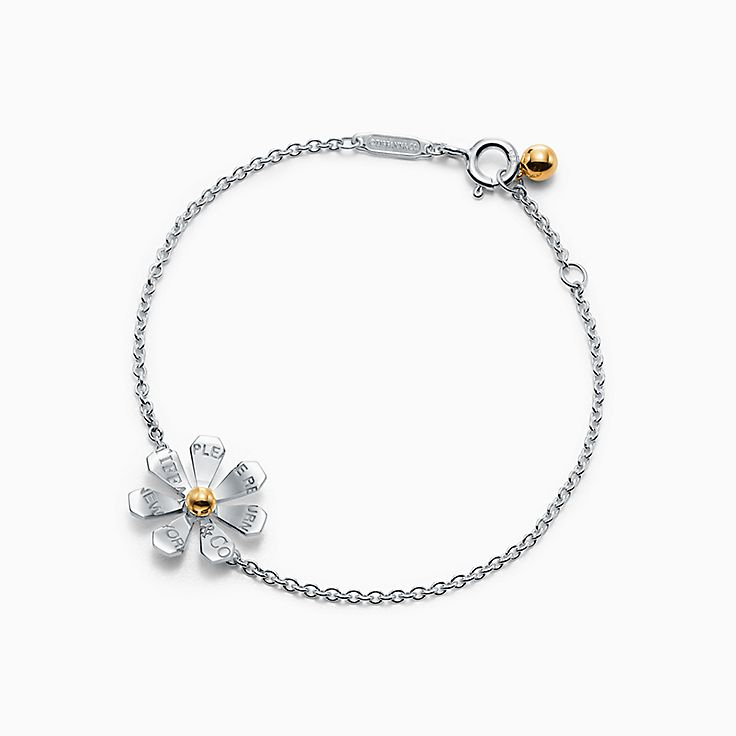 Return to Tiffany™ Love Bugs:Daisy Chain Bangle in Sterling Silver and 18k Gold