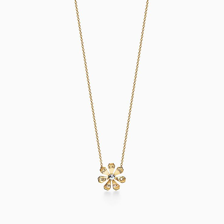 Return to Tiffany® Love Bugs:Daisy Pendant in 18k Gold and Sterling Silver
