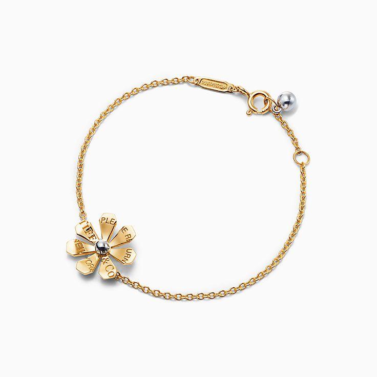 Return to Tiffany™ Love Bugs:Gänseblümchen-Gliederarmband in 18 Karat Gold und Sterlingsilber