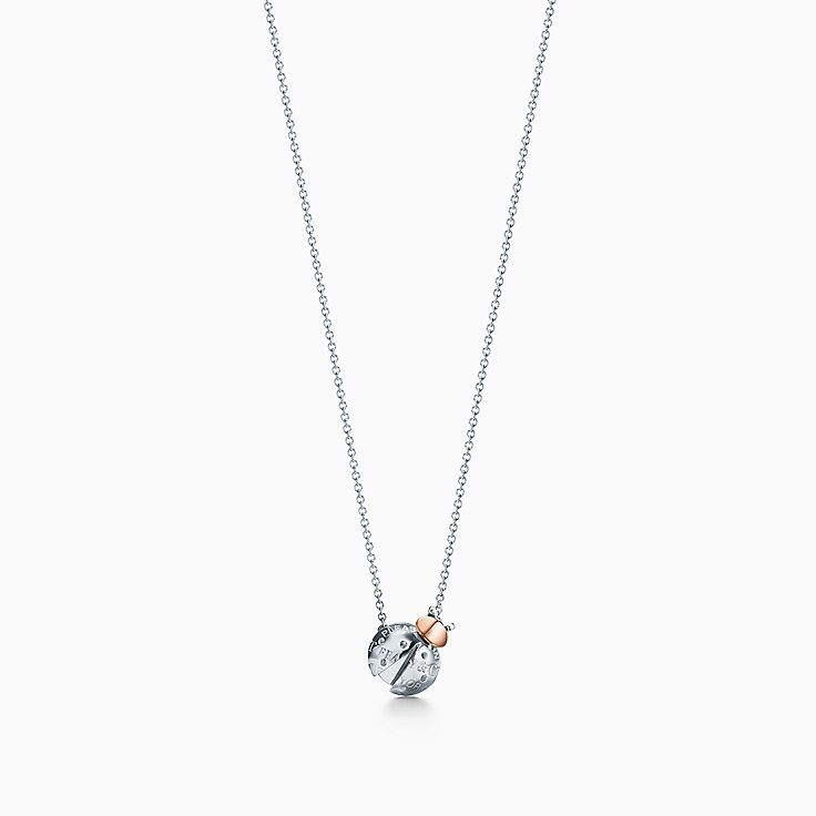 Return to Tiffany™ Love Bugs:Ladybug Pendant in Sterling Silver and 18k Gold