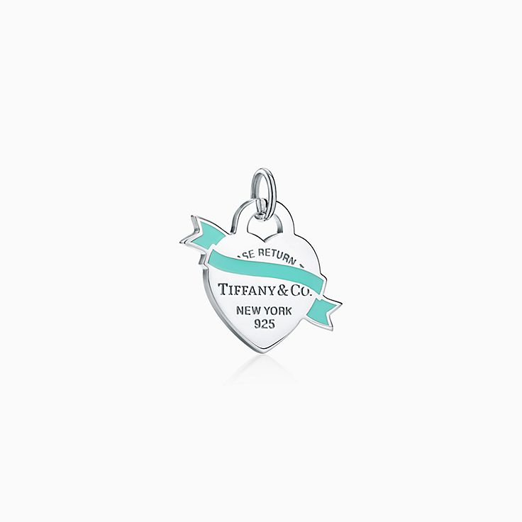 Return to Tiffany™:Banner Heart Tag Charm