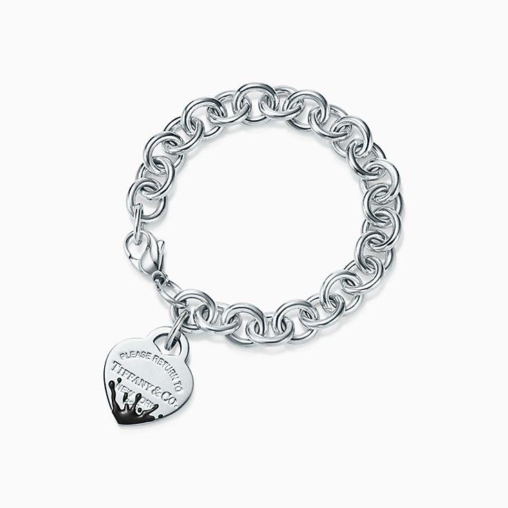 Return to Tiffany™:Color Splash Heart Tag Bracelet