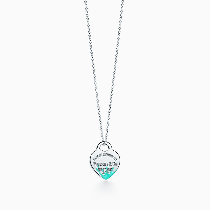 Return to Tiffany™:Color Splash Heart Tag Charm