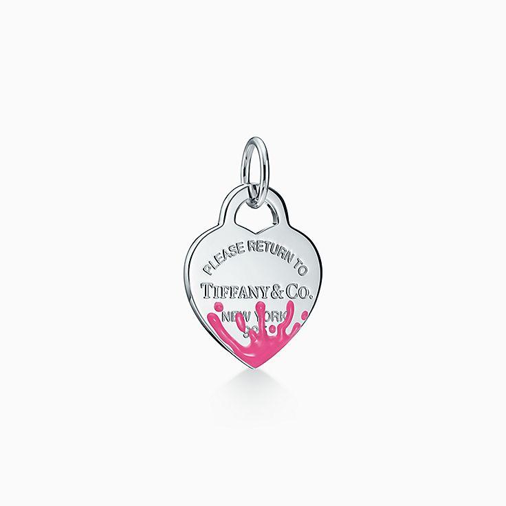 Return to Tiffany®:Color Splash Heart Tag Charm