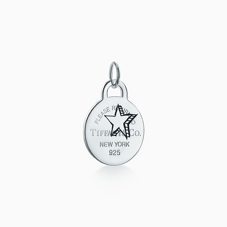 Return to Tiffany®:Etched Star Round Tag Charm