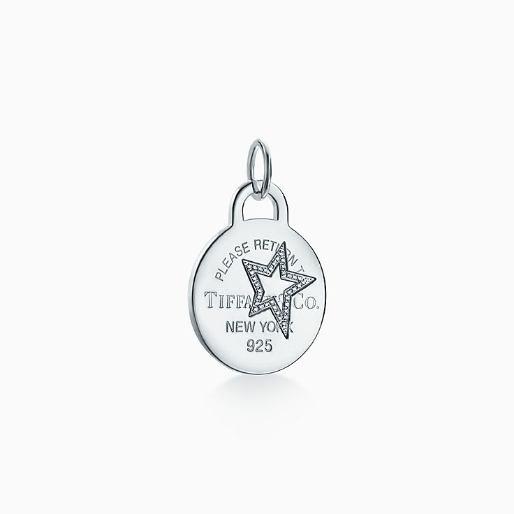 Return to Tiffany®:Etched Star Round Tag Charm