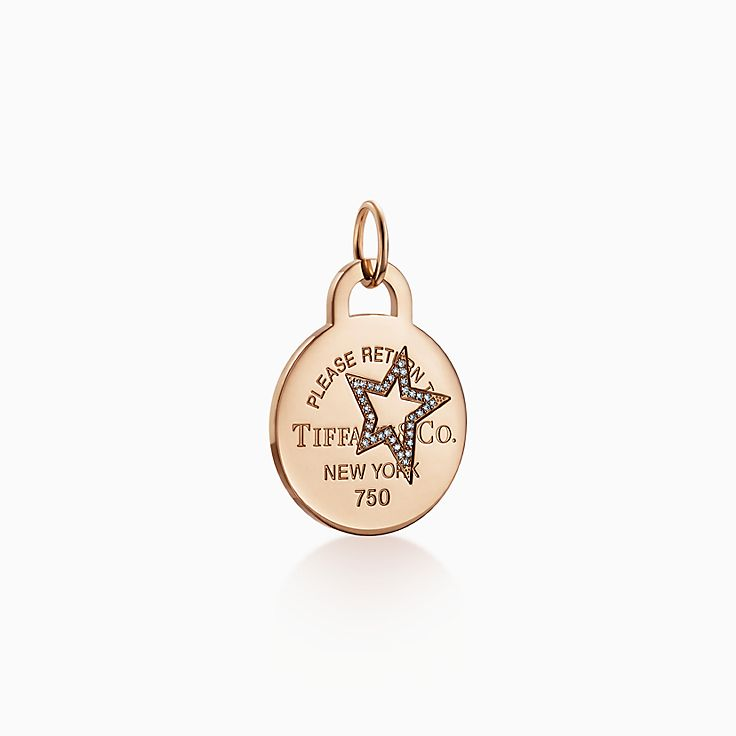Return to Tiffany™:Etched Star Round Tag Charm