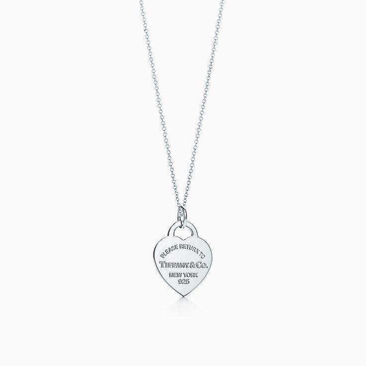 Return to Tiffany™:heart tag charm and chain