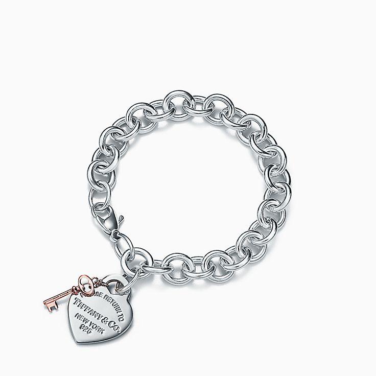Return to Tiffany™:Heart Tag Key Bracelet