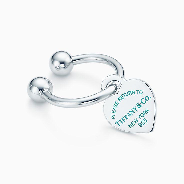 Return to Tiffany®:Heart Tag Key Ring
