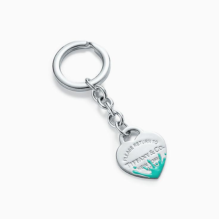 Return to Tiffany™:Llavero con toque de color