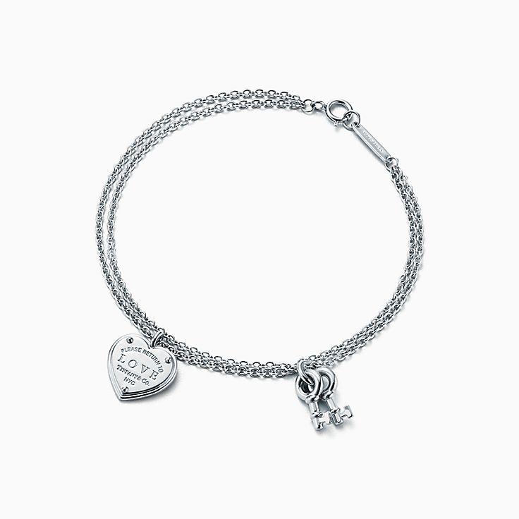 Return to Tiffany™:Love Heart Tag Key Bracelet