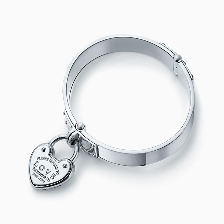 Return to Tiffany™:Love Lock Hinged Bangle