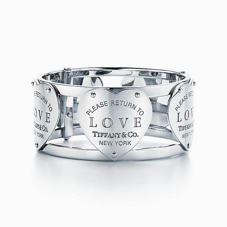 Return to Tiffany™:Love Wide Hinged Cuff