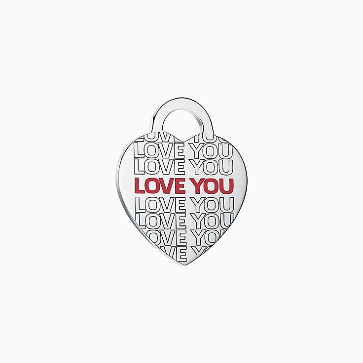 "Return to Tiffany™:""Love You"" Heart Tag Charm"