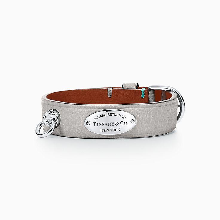 Return to Tiffany™:Narrow Leather Bracelet