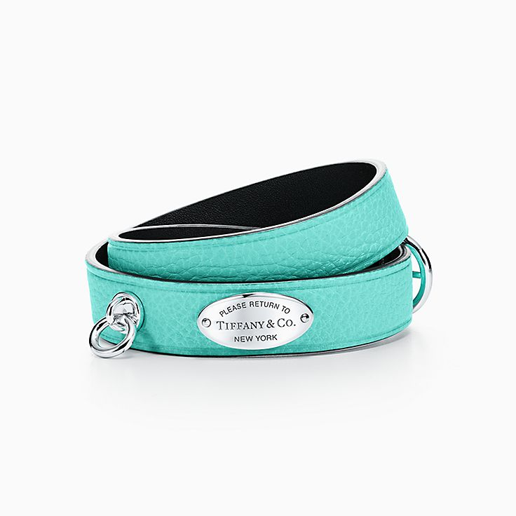 Return to Tiffany®:Narrow Leather Wrap Bracelet