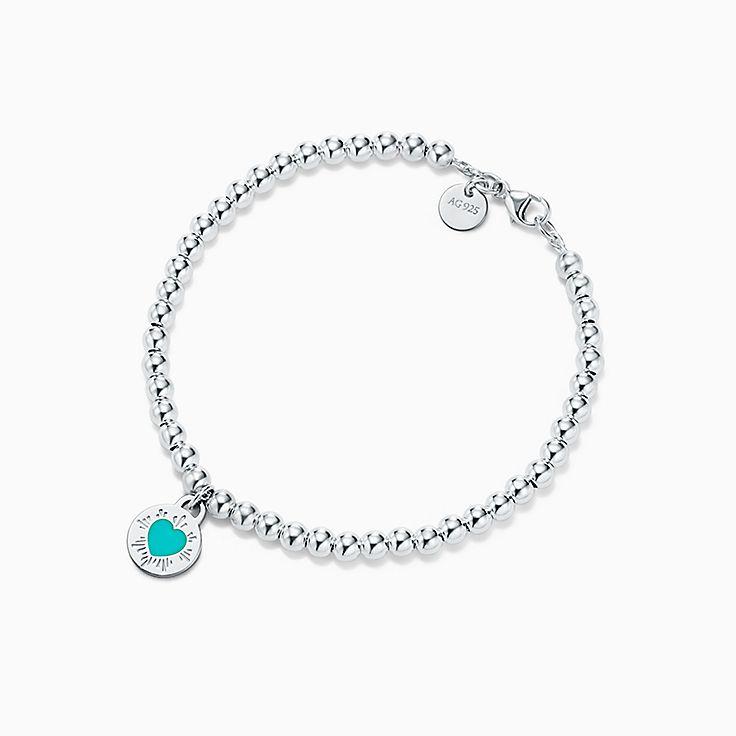 Return to Tiffany™:Round Heart Charm Bracelet