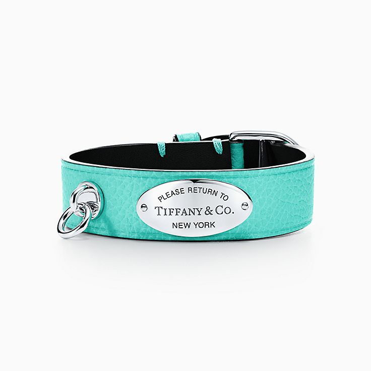 Return to Tiffany®:Wide Leather Bracelet
