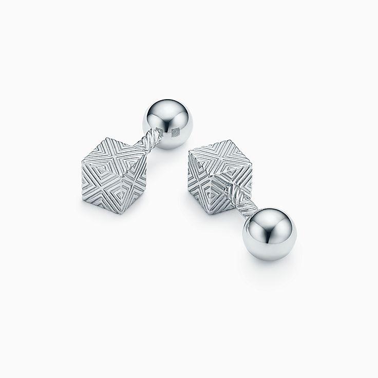 Strukturierte Cube Manschettenknöpfe