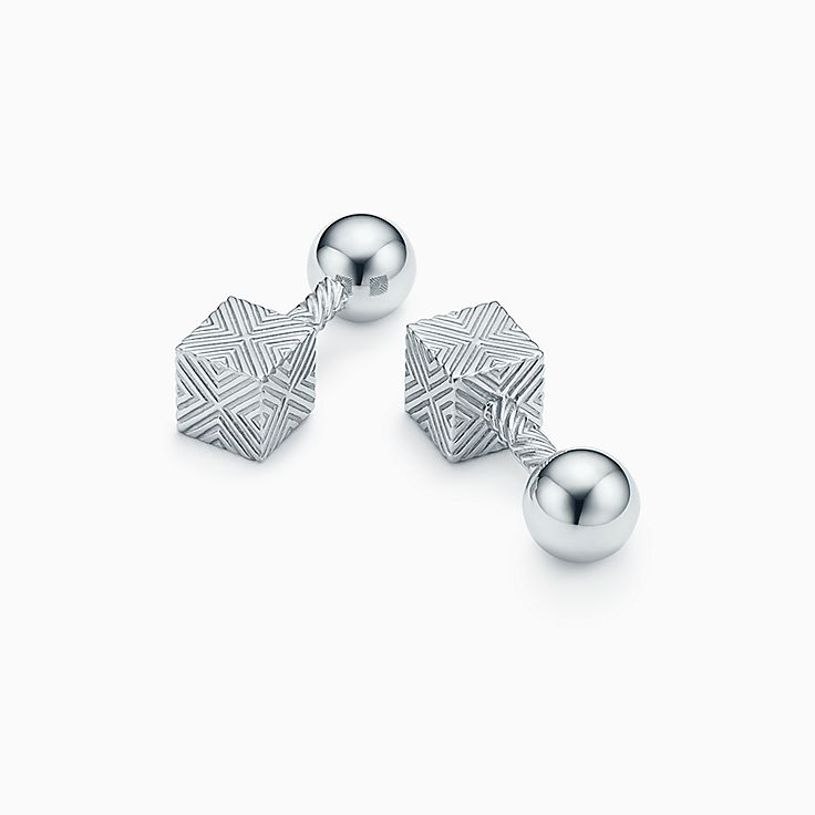 Textured Cube Cuff Links