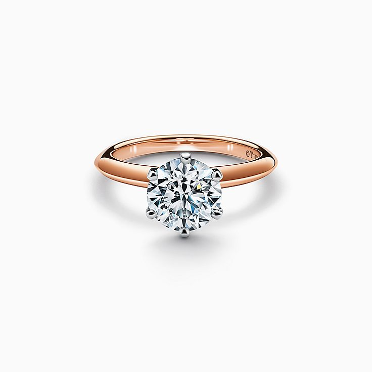 The Tiffany® Setting Engagement Ring in 18k Rose Gold