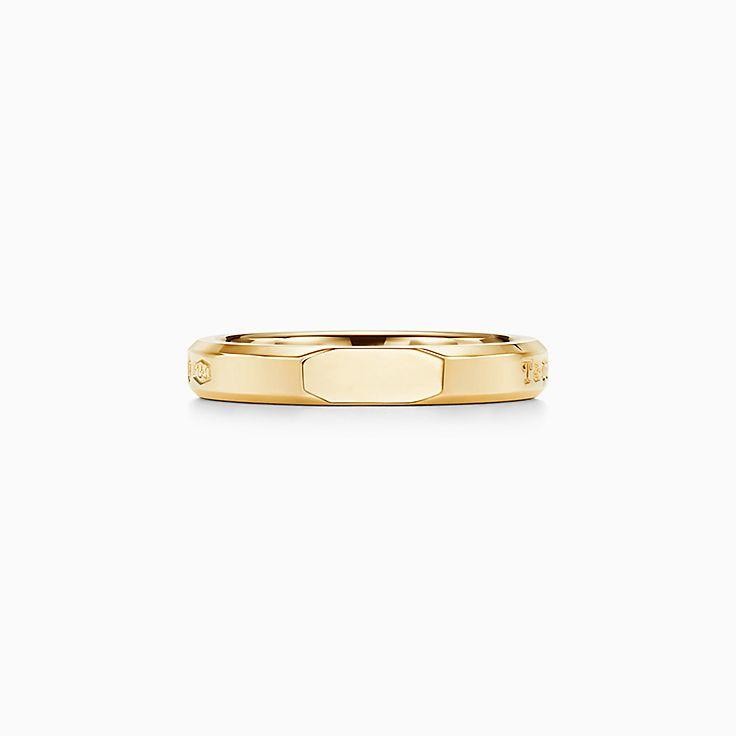 Tiffany 1837™:Anel Slice Makers estreito em ouro 18k