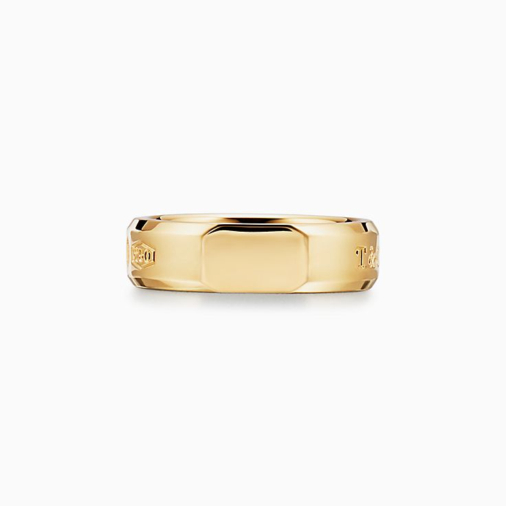 Tiffany 1837™:Anel Slice Makers médio em ouro 18k
