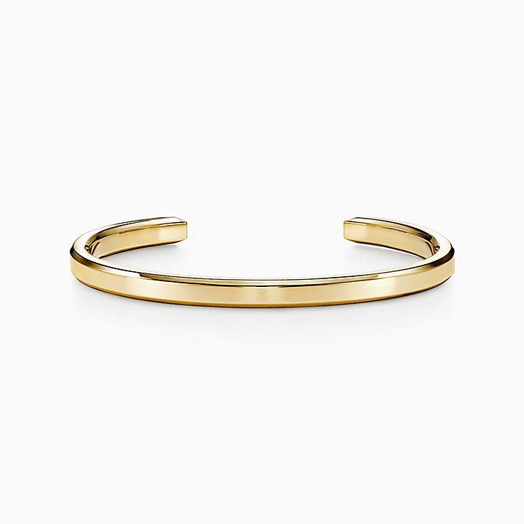 Tiffany 1837™:Bracelete Makers estreito em ouro 18k
