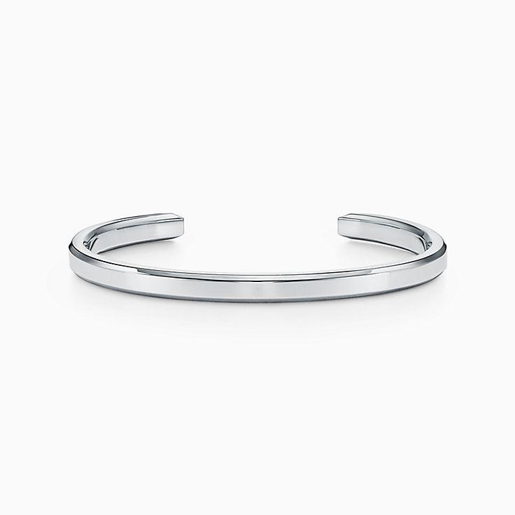 Tiffany 1837™:Bracelete Makers estreito em prata de lei