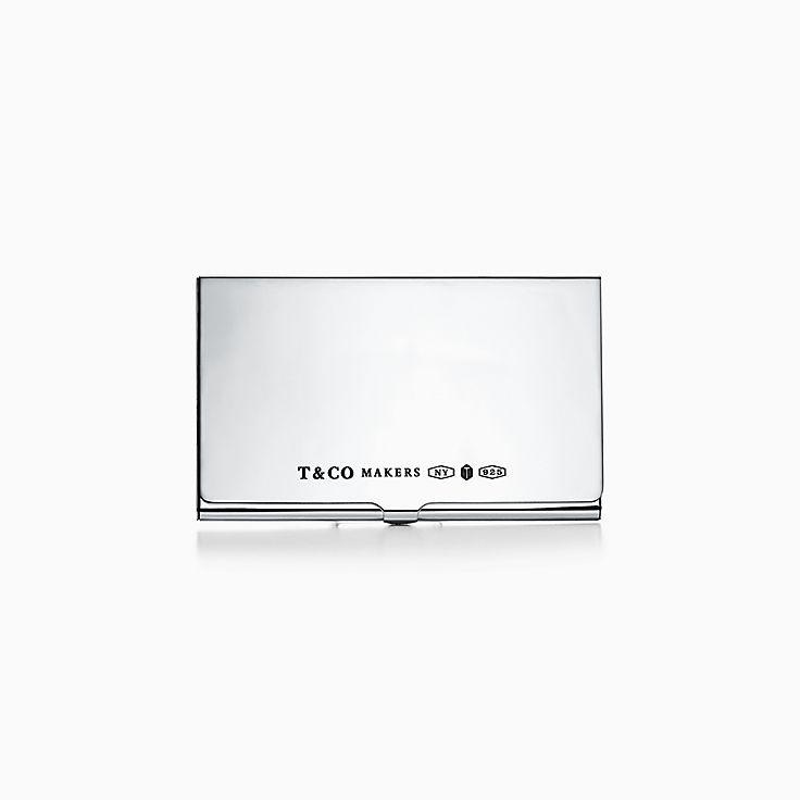 스털링 실버 소재의 Tiffany 1837™:Makers 카드 케이스