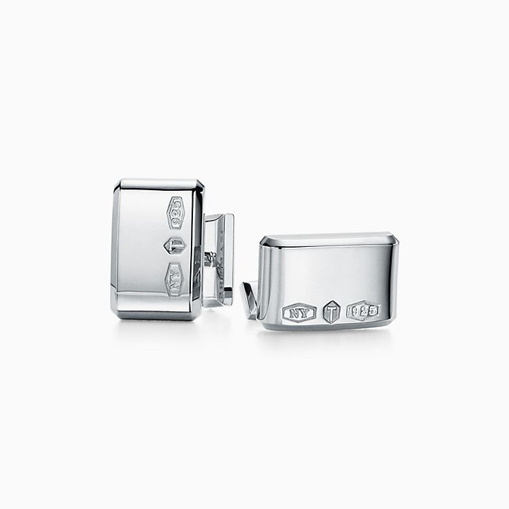 Tiffany 1837™:Makers Прямоугольные запонки из стерлингового серебра
