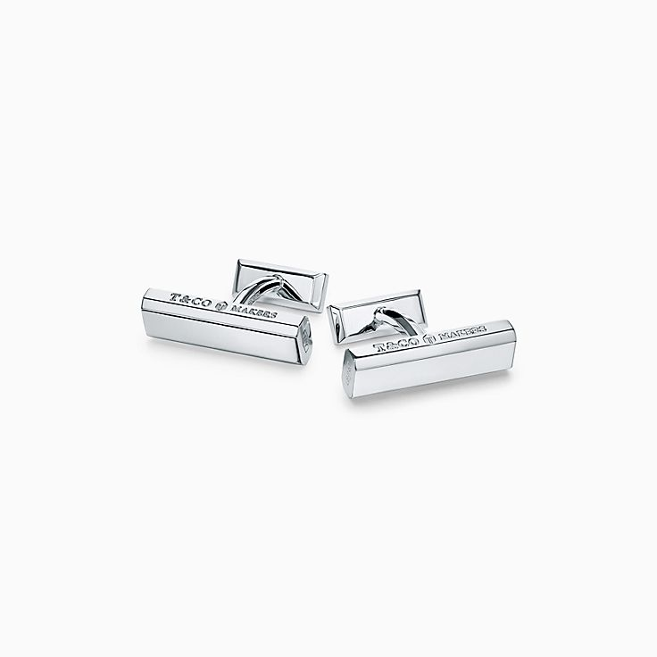 Tiffany 1837™:Makers Bar Cufflinks in Sterling Silver